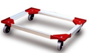 Base con ruedas para cajas plasticas de 800 x 600 18 10 for Cajas plasticas con ruedas