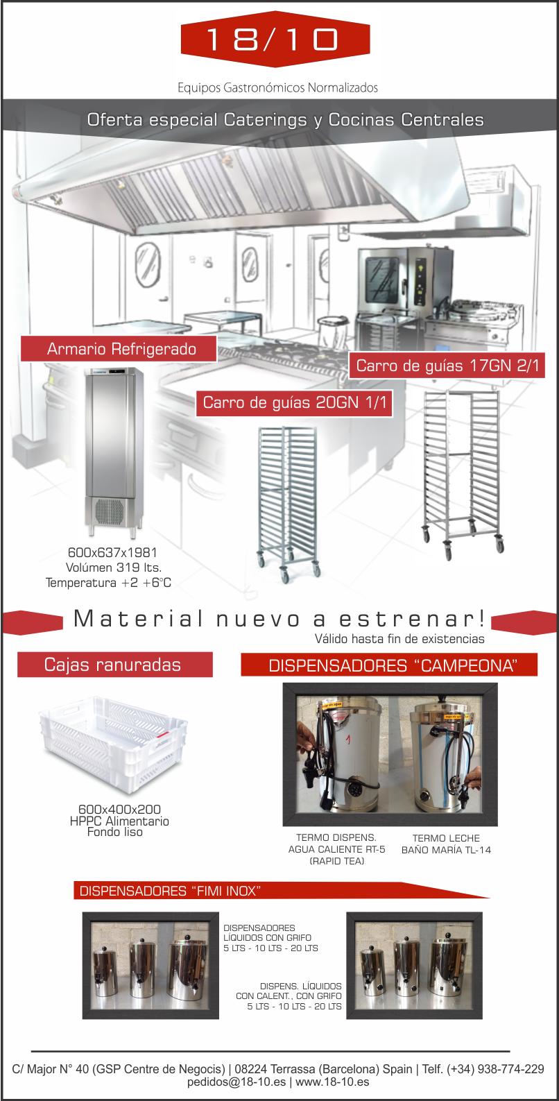 Cocinas Centrales S.a | Oferta Especial Caterings Y Cocinas Centrales 18 10